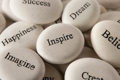 Inspirational stones - Inspire royalty free stock image