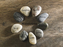 Inspirational stones stock photography