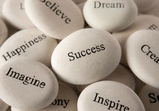 Inspirational stones - Success Royalty Free Stock Photos
