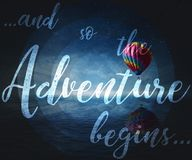 ...and so the Adventure begins... Royalty Free Stock Photo