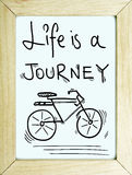 Inspirational travel journey adventure quote poster background Stock Image
