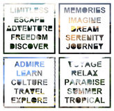 Inspirational Travel Text Royalty Free Stock Images