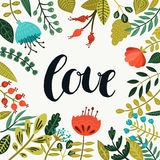 Inspirational vector love card Royalty Free Stock Photos