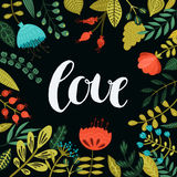 Inspirational vector love card Stock Photography