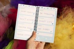 Inspirational woorden Stock Foto