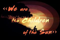 We are the children of the sun Royalty Free Stock Photos