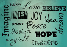 Inspirational words poster. Illustration of inspirational words poster Royalty Free Stock Image