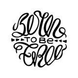 Inspirational zwart-wit affiche met het handdrawn van letters voorzien royalty-vrije illustratie