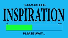 Inspirationpäfyllning stock illustrationer