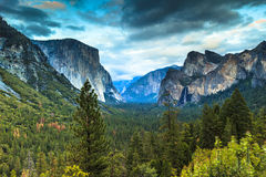 Inspirationpunkt Yosemite Stockfotografie