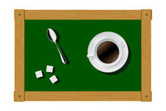 Inspirations and ideas in the coffee break. Vector. Stock Images