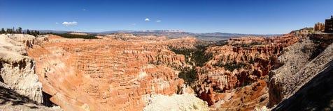Inspirations-Punktpanorama, Bryce Canyon, blauer Himmel Lizenzfreies Stockfoto