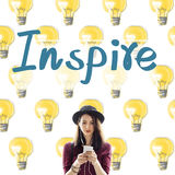 Inspire Aspirations Goal Imagination Innovation Concept. Inspire Aspirations Goal Imagination Innovation royalty free stock photos