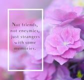 Inspire citações da vida da motivação no fundo das flores ilustração royalty free
