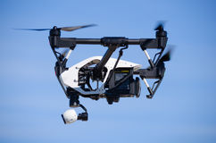 Inspire 1 Drone Flying Side View Closeup Royalty Free Stock Image