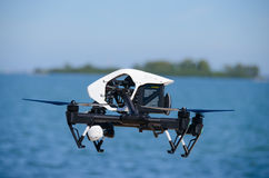 Inspire 1 Drone Flying Side View Closeup Stock Photography