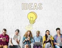 Inspire el concepto de la creatividad de las ideas frescas foto de archivo