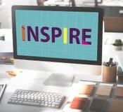 Inspire el concepto de Vision de la meta de los sueños de la confianza de la aspiración fotografía de archivo