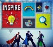 Inspire el concepto esperanzado creativo de Vision de la inspiración imagen de archivo libre de regalías