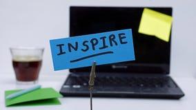Inspire escrita imagenes de archivo