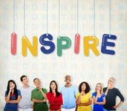 Inspire esperançoso acreditam que visão da aspiração inova conceito fotografia de stock
