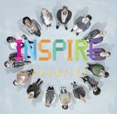 Inspire esperanzado creen que innove la aspiración Vision concepto libre illustration