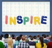Inspire esperanzado creen que innove la aspiración Vision concepto imagen de archivo libre de regalías