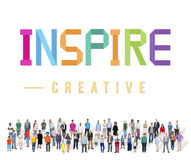 Inspire Hopeful Believe Aspiration Vision Innovate Concept. Inspire Hopeful Believe Aspiration Vision Innovate Stock Photography