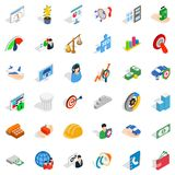 Inspire idea icons set, isometric style Royalty Free Stock Image