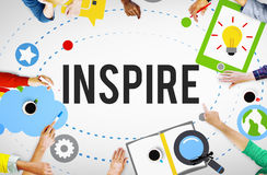 Inspire Ideas Creativity Knowledge Inspiration Vision Concept Royalty Free Stock Images