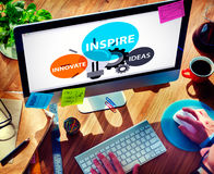 Inspire Ideas Innovate Imagination Inspiration Concept Stock Image