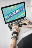 Inspire inspiration positivity word concept. Inspire inspiration Motivation positivity word stock photos