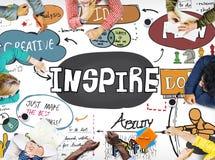 Inspire la inspiración creativa motivan concepto de la imaginación imagen de archivo libre de regalías