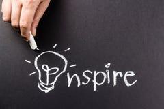 Inspire la lámpara foto de archivo libre de regalías
