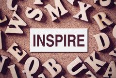 Inspire la palabra del concepto Fotografía de archivo