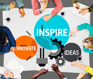Inspire las ideas innovan concepto de la inspiración de la imaginación fotografía de archivo