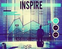 Inspire o conceito do alvo de Gola da aspiração da inspiração Fotografia de Stock Royalty Free