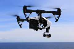 Inspire Ocean. Inspire1 flying nearby the sea in Norway stock photos