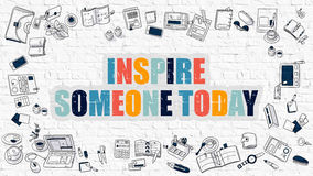 Inspire Someone Today in Multicolor. Doodle Design. Stock Photos