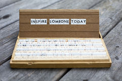 Inspire someone today royalty free stock images