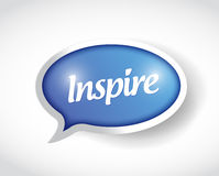 Inspire speech bubble message illustration Royalty Free Stock Images
