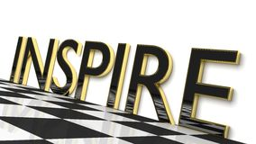 Inspire. Three dimensional glossy word: Inspire Royalty Free Stock Images