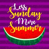 Inspire typographic summer quote royalty free illustration