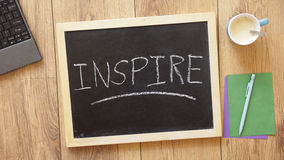 Inspire written Stock Photos