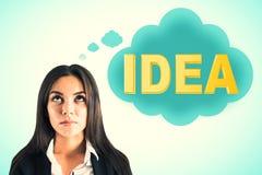 Inspire y concepto de la soluci?n foto de archivo