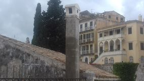 To Inspire You. Inspired photography with interesting architecture on the island of Corfu in Greece royalty free stock photo