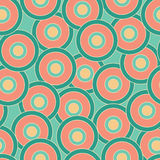 Inspired by 60s. Seamless colorful pattern with abstract shapes, retro style vector illustration
