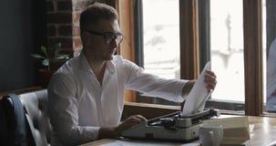 Writer works on novel