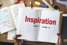 Inspireer Inspirerende Inspiratie motiveren vernieuwen Concept stock foto
