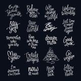 Inspirera citationstecken Trendig kalligrafi vektor illustrationer